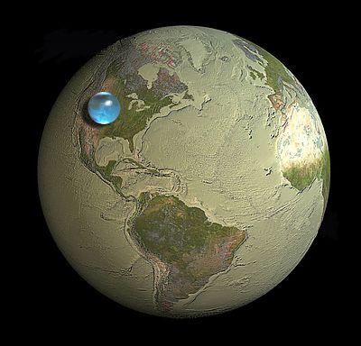 Вода в масштабе