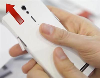 Sony Xperia S снятие панели