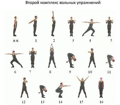 Второй комплекс вольных упражнений