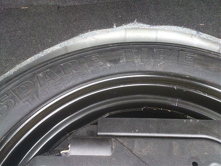 Размерность запасного колеса