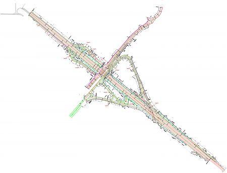 Схема развязки на Новорязанском шоссе