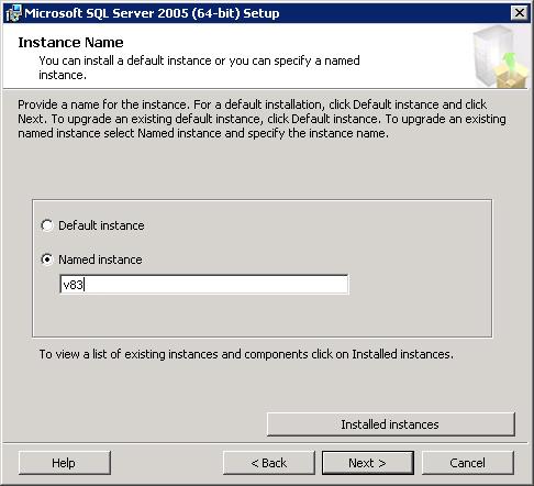 Создание нового инстанса (instance) в MS SQL 2005