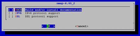 nmap - опции сборки порта