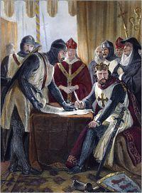 Иоанн Безземельный подписывает Великую Хартию вольностей