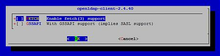 Опции сборки openldap-client