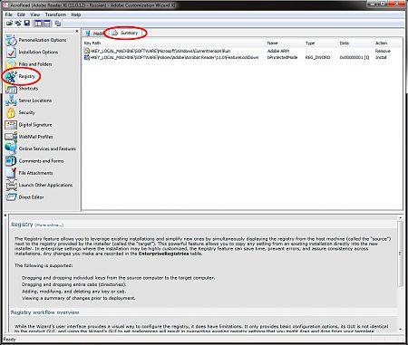 Adobe Customization Wizard XI рис.7