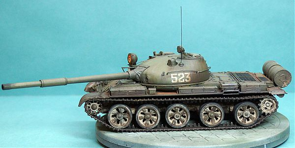Модель танка Т-62 рис.1