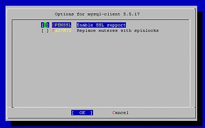 Mysql-client config