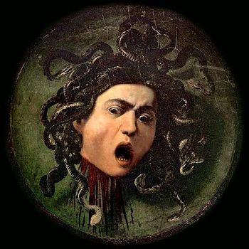 Микеланджело Меризи да Караваджо - Медуза Горгона