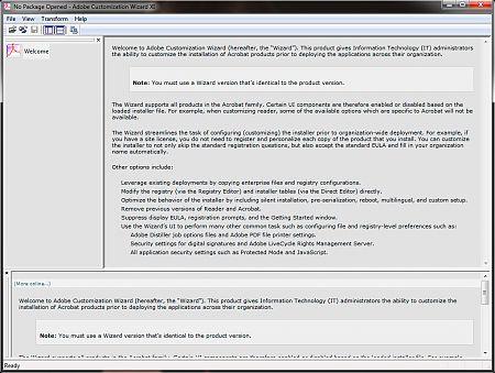 Adobe Customization Wizard XI