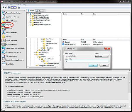Adobe Customization Wizard XI рис.6