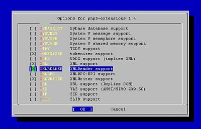 php5-extensions с xmlreader.so
